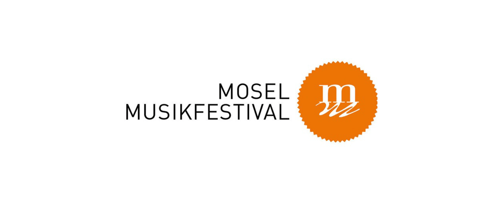 Letter M on an orange background - Mosel Musikfestival logo