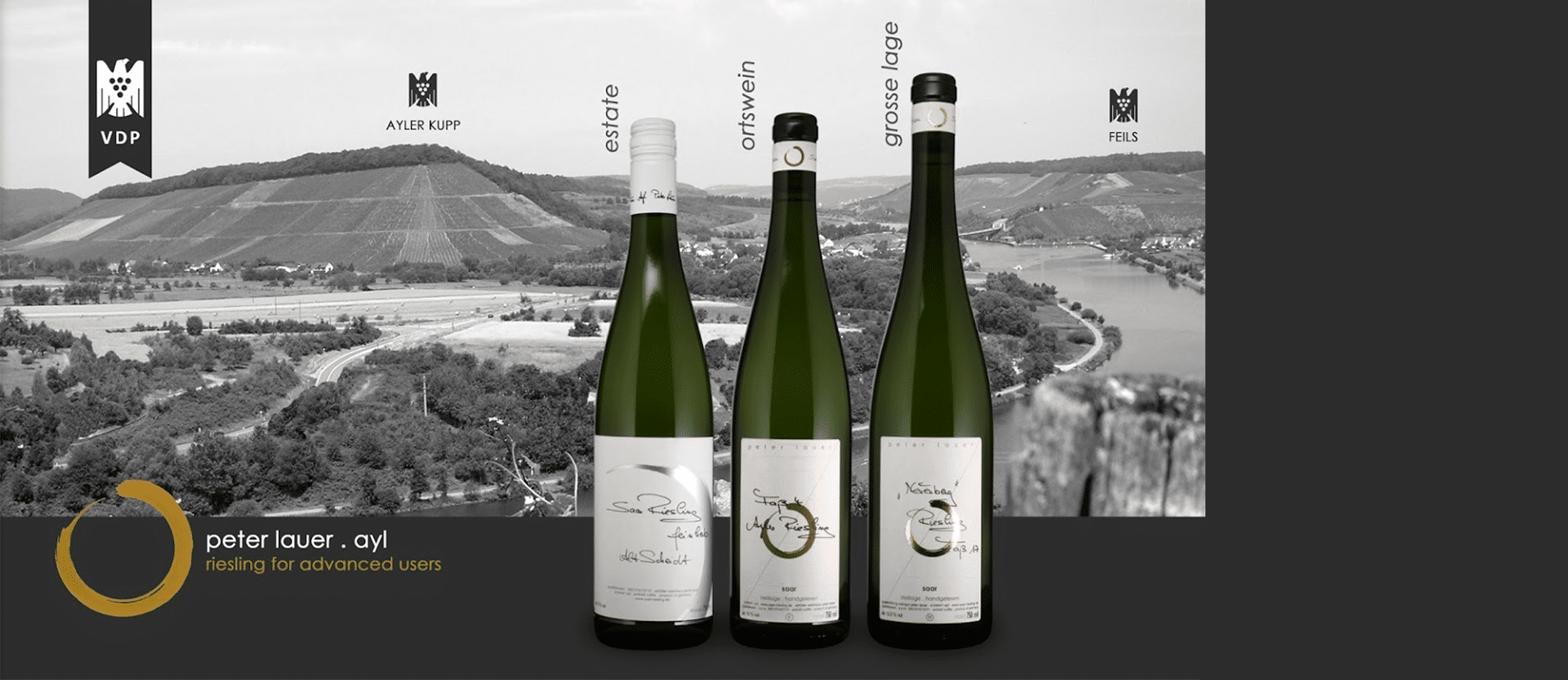 Three bottles of wine from Peter Lauer