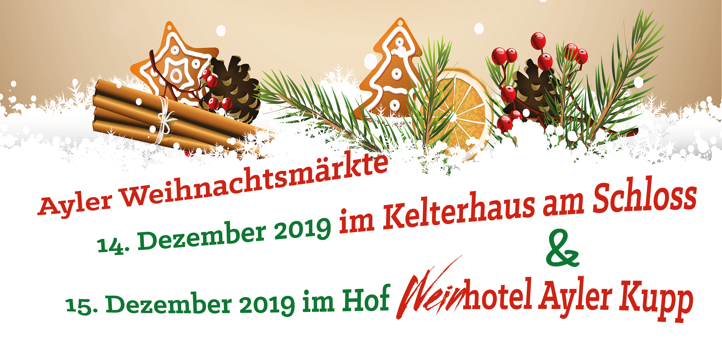 Flyer about Christmas markets in 2019