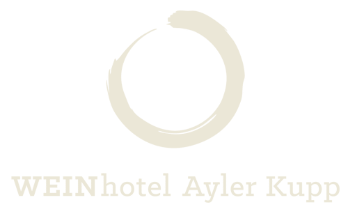 Circle above the name WEINhotel Ayler Kupp - hotel logo